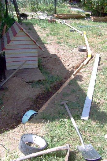 Graben für das Fundament