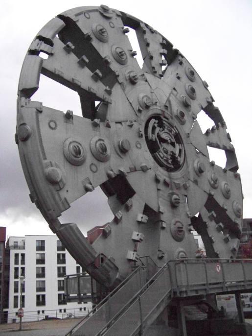 Schneidrad der Bohrmaschine für den vierten Elbtunnel