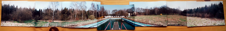 Panorama des noch unbesiedelten Schwimmbades