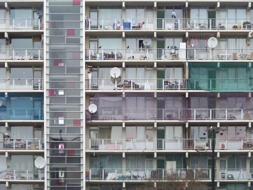 Wohnblock in der Nachbarschaft