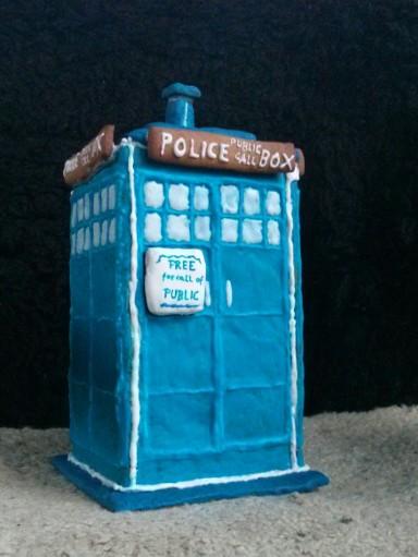 TARDIS aus Lebkuchen